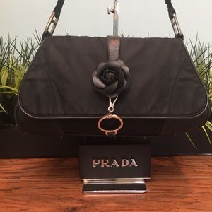 Auth Prada Tessuto Nylon & Napa Leather dcb1022